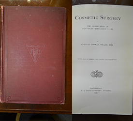 early book on facial cosmetic surgery published in 1924